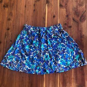 I Love H81 Fit & Flare Blue Print Skirt